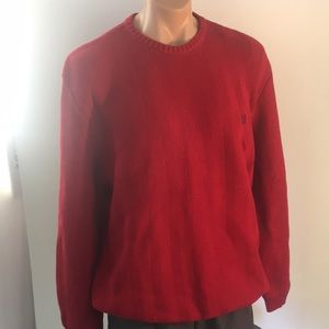 Chaps XLT red 💯 cotton knit sweater(A2.12)